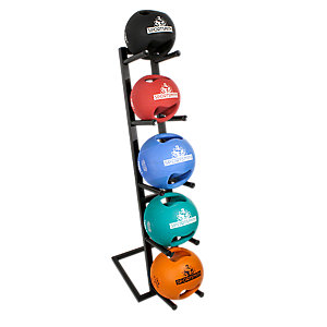 Dual-Grip Medicine Ball Set, Set Of Five Balls with Vertical Rack - P19DGMSR