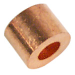 """Sleeve Stop For 1/4"""" Cable, Copper"""