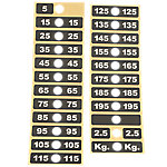 Weight Stack Label 195 kg Stack