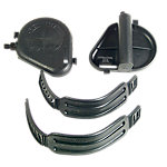 "Bike Pedals, ""Extra Wide"" Set with Straps, 1/2"", OEM"