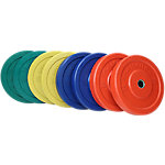 Olympic Rubber Bumper Plate Set | Sportsmith | 230 Lbs | Multi Color