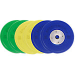 Competition Bumper Plate Set, 210lbs/95.34kgs, Multi-Color