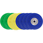 Competition Bumper Plate Set, 300lbs/136.2kgs, Multi-Color