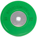 Competition Bumper Plate, 25lb, Green