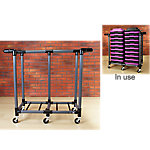 Storage Cart for Aerobic Step Risers | Gray