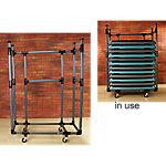 Storage Cart for Aerobic Step Platforms | Gray