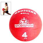 Medicine Ball, 4Kg / 8.8 Lbs., Red