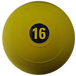 "D-Ball, 16lb, Yellow, No Bounce, 9"" Diameter"