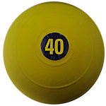 "D-Ball, 40lb, Yellow, No Bounce, 10.6"" Diameter"