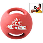 Dual-Grip Medicine Ball, 8 Lbs., Red
