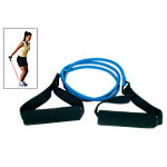 Resistance Tube with Foam Grips | Heavy Resistance 10.5 - 14.5 Lbs | Blue