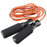 Leather Speed Jump Rope with Foam Grips, 9