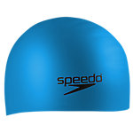 Swim Cap for Long Hair, Silicone, Blue