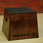 "Wooden Plyo Box | Assembled | Red Mahogany Finish | 16"" High Pyramidal Design"