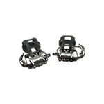 Bike Pedals, *SPD* Pedal Set with Toe Cages, Straps, and Shoe Hardware, 9/16""