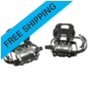 Bike Pedals, *SPD* Pedal Set with Toe Cages, Straps and Shoe Hardware, 9/16""