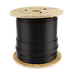 "Cable 1000FT Reel, 1/4"" Diameter with Black Nylon Coating"