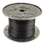 "Cable 300FT Reel, 3/16"" Diameter with Black Nylon Coating"