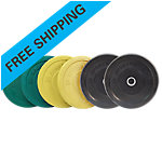 Olympic Rubber Bumper Plate Set, Sportsmith, 160 Lbs, Multi Color