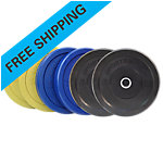 Olympic Rubber Bumper Plate Set, Sportsmith, 210 Lbs, Multi Color
