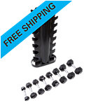 Vertical 2-Sided Rack with 8 Pair Dumbbells, 3-25 Lb