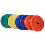 Olympic Rubber Bumper Plate Set, Sportsmith, 230 Lbs, Multi Color