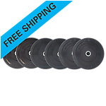 Olympic Rubber Bumper Plate Set, Sportsmith, 160 Lbs, Black