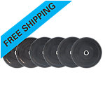 Olympic Rubber Bumper Plate Set, Sportsmith, 210 Lbs, Black