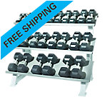 3-Tier Dumbbell Stadium Style Rack with 13 Pair Dumbbells, 3-50Lb