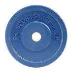 Olympic Rubber Bumper Plate, Sportsmith, 35 Lb, Blue
