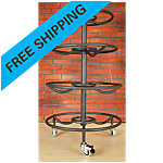4-Tier Medicine Ball Rack with Locking Wheels, Carbon Silver