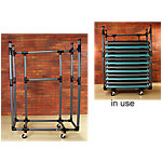 Storage Cart for Aerobic Step Platforms | Gray