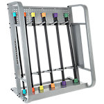 Toning Bar Set with Deluxe Rack, 6 Bars and Rack that Holds up to 96 Bars