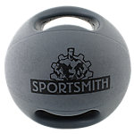 Double Grip Medicine Ball | 16 lb | Gray