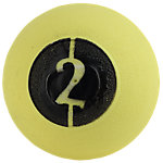 "D-Ball, 2lb, Yellow, No Bounce, 3.75"" Diameter"