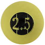 "D-Ball, 2.5lb, Yellow, No Bounce, 3.75"" Diameter"