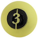 "D-Ball, 3lb, Yellow, No Bounce, 3.75"" Diameter"