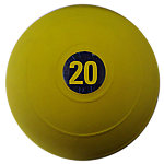 "D-Ball, 20lb, Yellow, No Bounce, 9"" Diameter"