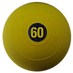 "No Bounce Medicine Ball, 60lb, Yellow, 12"" Diameter"