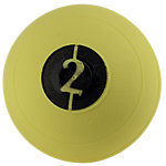 "No Bounce Medicine Ball, 2lb, Yellow, 5"" Diameter"