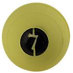 """No Bounce Medicine Ball, 7lb, Yellow, 5"""" Diameter"""