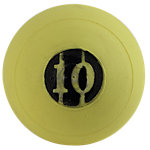 "D-Ball, 10lb, Yellow, No Bounce, 5"" Diameter"
