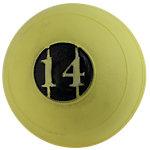 "D-Ball, 14lb, Yellow, No Bounce, 5"" Diameter"