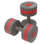 Barbells for Aquatic Fitness, Pair, Charcoal/Red