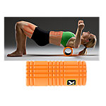 "The Grid Foam Roller, 5"" x 13"", Orange"