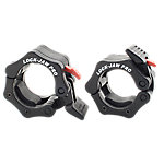 "Lock-Jaw Pro Olympic Bar Collar, Pair, Fits 2"", Black"